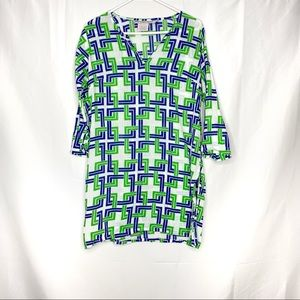 Gretchen Scott Geo Abstract Print Cotton Tunic